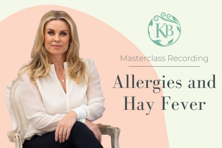 Allergies and Hay fever Masterclass Recording - Katie Brindle